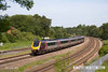 140606-001     Cross Country Trains class 221, voyager unit no 221125 speeds past Clay Cross with 1O86, the 09.35 Newcastle to Southampton Central.