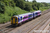 140606-037  Northern Rail class 158 unit no 158797 speeds past Hasland with 1Y32, the 13.17 Nottingham to Leeds.