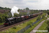 140602-012     A stunning sight!! former LMS steam loco's, 8F 2-8-0 no 48151, Jubilee 4-6-0 no 45699 Galatea, and Royal Scot 4-6-0 no 46115 Scots Guardsman are seen approaching Newark North Gate, with train 5Z70, the 07.59 Dereham to Carnforth (Steamtown). They were returning to base at Carnforth after attending a gala weekend at the Mid Norfolk Railway.