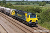 140612-023     Freightliner class 70 no 70011 is captured passing Cossington, powering train 6M01, the 11.10 Tinsley yard to Bardon Hill quarry, empty aggregates hoppers.