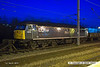 140301-044     DCR class 56 no 56312 Jeremiah Dixon illuminated by the station lights at Newark North Gate.