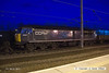 140301-045     DCR class 56 no 56312 Jeremiah Dixon illuminated by the station lights at Newark North Gate.