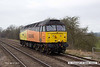 140310-011     Colas Rail class 47 no 47727 Rebecca runs 'light' past Frisby as 0Z47, the 09.00 Washwood Heath to Old Dalby.