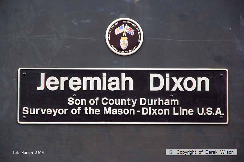 140301-014     Nameplate of DCR class 56 no 56312 Jeremiah Dixon.