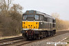 140310-032     DCR class 31 no 31190 passes Frisby, running light as 0Z56, the 12.55 Peterborough, Eastfield sidings to Washwood Heath.