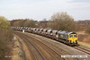 140319-010     Freightliner class 66/6 no 66603 is seen passing Stonebroom, powering 6M01, the 11.10 Tinsley to Bardon Hill, empty aggregates hoppers.