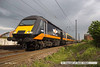 140506-074     A Grand Central HST led by class 43, power car no 43465 is seen speeding past Hatchet's Lane at Newark, leading 1N94, the 16.50 London King's Cross to Sunderland.