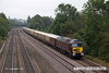 140906-015     WCRC class 57/3 no 57314 is seen leading The Statesman, train 1Z43, 06.00 Gloucester to Scarborough. Class 47/7 no 47786 was at the rear, the image was captured at Tupton, near Chesterfield.