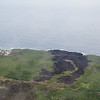 See where the lava flowed down to the sea