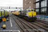 082 hauls the Sperry Train past Grand Canal Dock with the 0940 Heuston - Wexford working. Fri 04.04.14