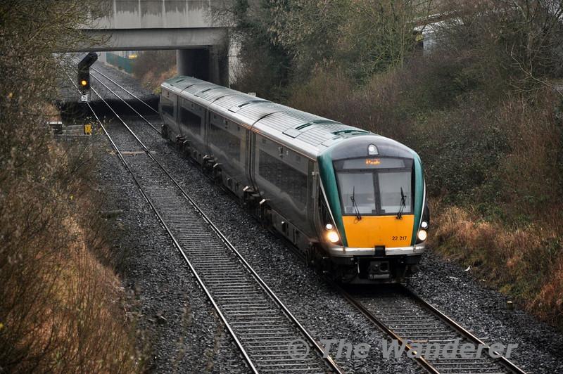 22017 1300 Heuston - Cork passes Clonkeen. Tues 02.04.14