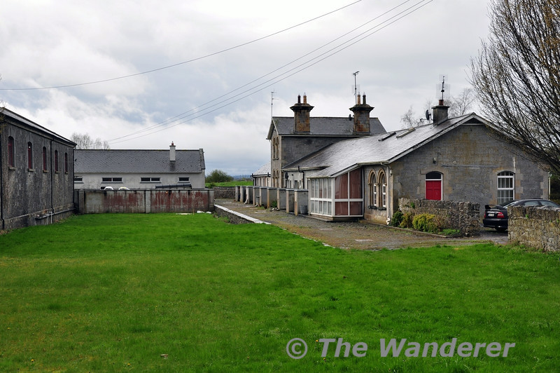 Birr Station. The former single platform and run round loop are now a green area. Sat 05.04.14