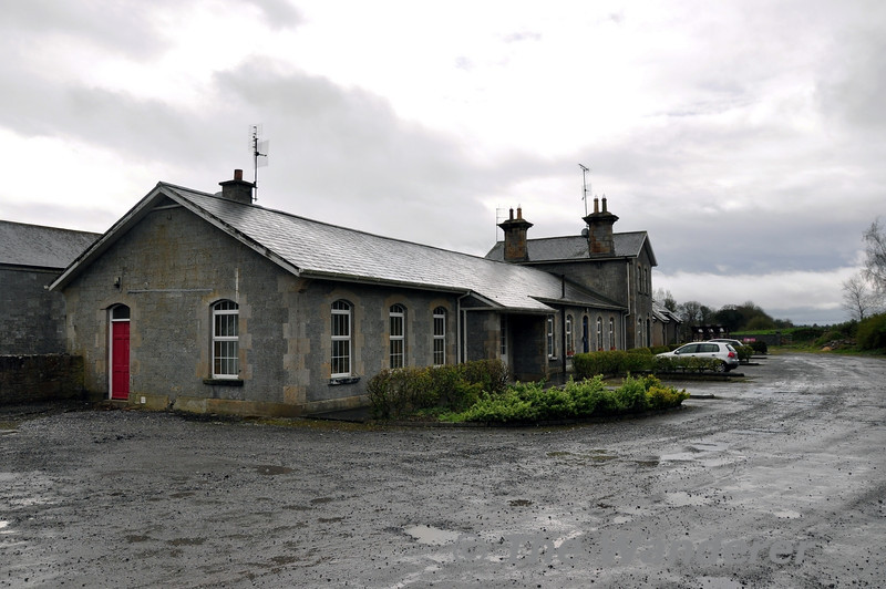 Birr Station Buildings. The Station opened 08th March 1858, the terminus of a 11 3/4 mile branch from Roscrea. The branch line closed completly on 1st January 1963. Sat 05.04.14