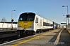(8)209 passes Portarlington with the 0935 North Wall - Ballina IWT Liner. Tues 02.12.14