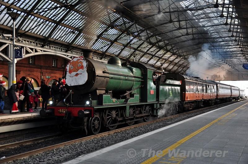 461 at Pearse Station. 1030 Pearse - Maynooth RPSI Santa Spl. Sat 13.12.14