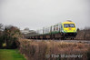 The 1400 Heuston - Cork was retained as a MKIV service for one week only following the reduction in MKIV operated services. It is expected it will convert to 4ICR operation next week. 4006 brings up the rear of the formation at Killinure. Sat 22.02.14