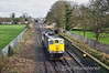074 backs onto its Timber Train in the middle road at Kildare. Tues 04.02.14