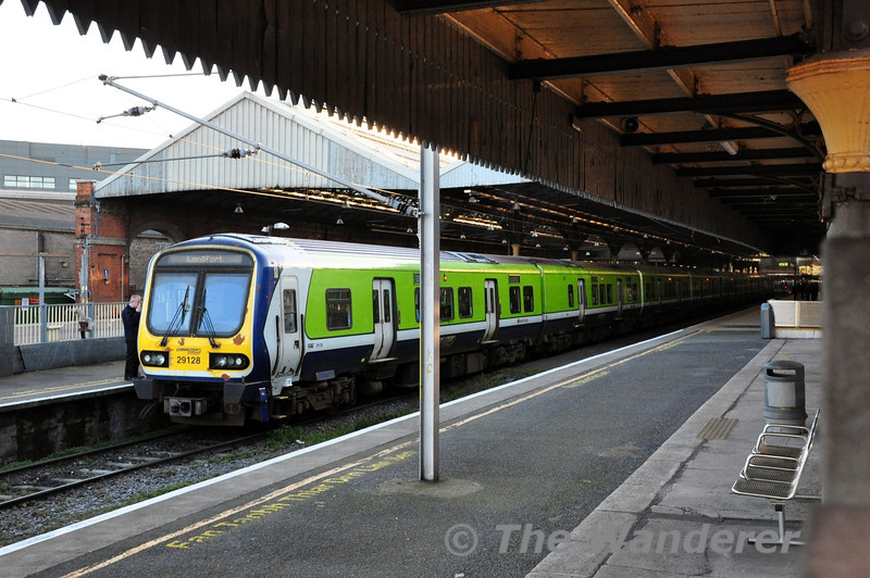 29028 at Connolly prior to departure of the 1715 to Longford. Thurs 27.02.14