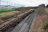 Track Panels from the Navan Branch loaded onto the flat wagons bound for Portlaoise Per Way Yard. The track was replaced by CWR over the weekend. Mon 24.02.14