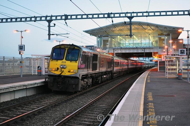 233 at Clongriffin. 1605 Belfast Central - Dublin Connolly. Thurs 27.02.14