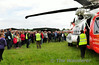 The crowd gathers around EI-ICA for a talk by the crew. Sun 03.08.14