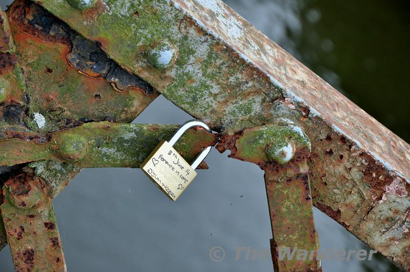 Love Lock. Deep's Bridge, Killurin, Co. Wexford. Mon 21.07.14