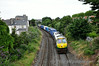 218 passes Claude Road in North Dublin with the 0815 Ballina - North Wall IWT Liner. Fri 11.07.14