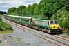 The spare MKIV set was in action today due to the Munster Hurling Final in Cork. It operated the 1500 Heuston - Cork and 1820 Cork - Heuston services. The down 1500 is seen at Templemore with 221 and GC 4008. Sun 13.07.14