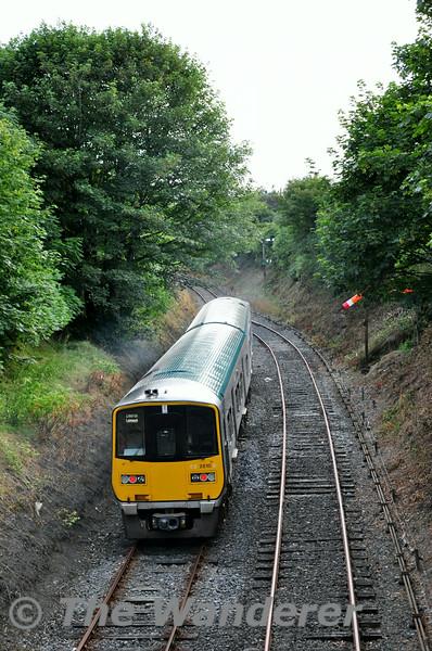 2809 + 2810 depart Roscrea. 1900 Ballybrophy - Limerick. Thurs 17.07.14