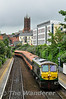 After running around the rake of MKIII carriages at Belfast Central, 228 hauls the rake through City Hospital enroute to Adalaide Depot. Sun 20.07.14