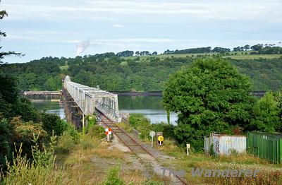 Compared to Friday 18th July the weather on Monday 21st July was bright and sunny.  This is the scene at the Barrow Bridge on the mothballed Belview - Rosslare Strand Line as I awaited the arrival of the annual weedspray train. Mon 21.07.14