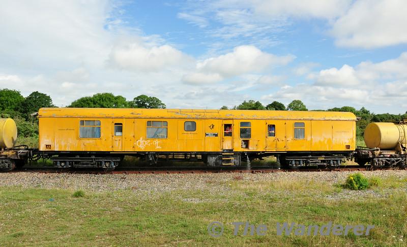 Weedspray Van 3187 at Bridgetown. 0700 Waterford - Rosslare Strand Weedspray Train. Mon 21.07.14