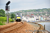 4020 arrives at the seaside town of Whitehead. 1015 Great Victoria Street - Whitehead. Thurs 12.06.14