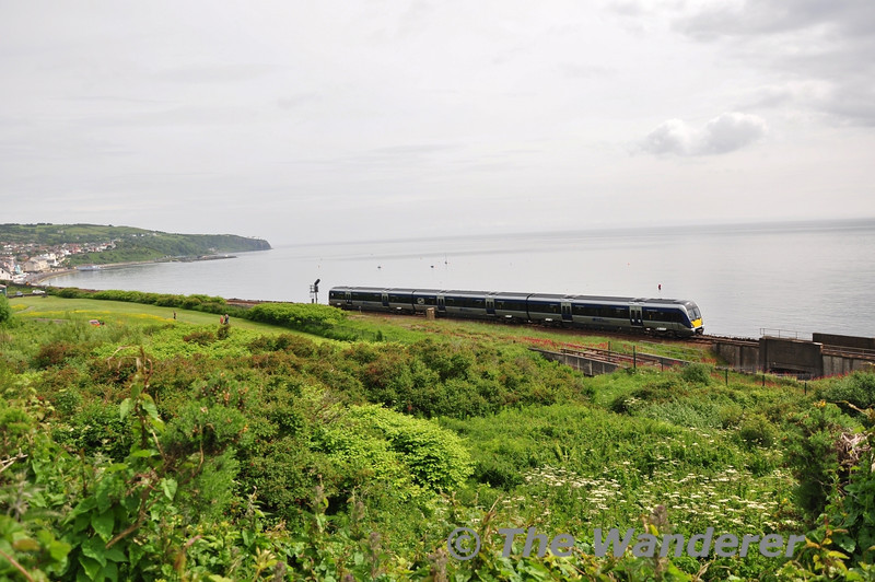 4018 departs Whitehead heading for Great Victoria Street. Thurs 12.06.14