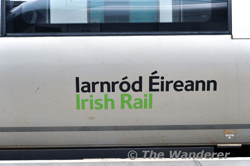 """The Iarnrod Eireann Logo applied to 22002. Units 22001 - 22006 do not have the """"flag"""" applied. Sat 15.03.14"""