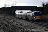 22013 passes under the bridge at Rosskleton with the 1220 Cork - Heuston. Fri 07.03.14