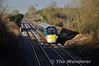 22036 1705 Heuston - Tralee approches Pole Bridge between Portlaoise and Ballybrophy. Tues 25.03.14