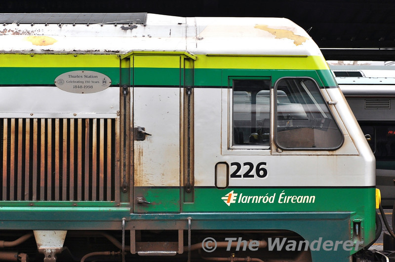 The No. 2 end of 226 is fitted with English & Irish Plaques for the Thurles 150 event back in 1998. Sat 15.03.14