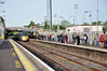 Newbridge is one of the busiest stations on the route. 22060 + 22029 arrive with the 0530 Galway - Heuston service, one of several early morning Intercity services which make calls at the surburban stations. Fri 16.05.14