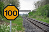 100 MPH Board next to Level Crossing XA08 Shanderry No. 1. Mon 05.05.14