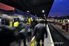 The morning rush at Heuston sees passengers disembark from the 0625 Portlaoise - Heuston. Fri 28.11.14