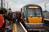 Passengers board a busy 0515 Westport - Heuston at Newbridge. Thurs 13.11.14