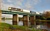 075 0935 North Wall - Ballina crosses the Barrow Bridge at Monasterevin. Sat 22.11.14