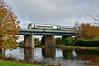 22031 crosses the Barrow Bridge at Monasterevin with the 1020 Heuston - Portlaoise. Sat 22.11.14
