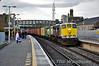 083 rolls through Portarlington with a fully loaded 0815 Ballina -  North Wall IWT Liner. Fri 28.11.14
