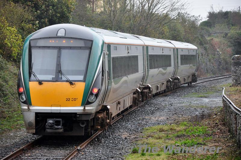 22001 departs Cahir. 1035 Limerick Jct. - Waterford. Sat 01.11.14