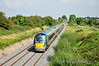 22017 passes Rosskelton with the 1300 Heuston - Cork. Thurs 04.09.14