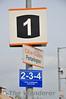 2-3-4 car stop board recently installed on the Platform 1 at Portarlington. Sun 14.09.14