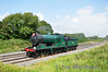 """As part of the Limerick City of Culture events, the RPSI ran 461 Light Engine from Connolly to Limerick for the The Grandmother Giant opening event on Friday morning.  <br> <br> See <a href=""""http://royaldeluxelimerick.ie"""" target=""""_blank"""">Royal Deluxe Limerick</a> for all the details. <br> <br> The 1135 Connolly - Limerick movement is pictured at Rosskelton with Driver Ken Fox waving to the camera. Wed 03.09.14"""