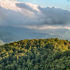 Blue Ridge Parkway Scenic Mountains Overlook Summer Landscape